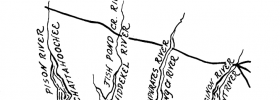 Detail of the branches of the Apalachicola River, and their corresponding Biblical rivers.