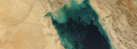 A photograph from NASA's LANDSAT surveillance program, showing the Persian Gulf. These photographs were part of the basis for a theory of the Garden of Eden published in the 1980s by archaeologist Juris Zarins…and the beat goes on!